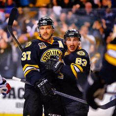 Patrice Bergeron & Brad Marchand.  Who rocks more than these two right now?  NOBODY!!