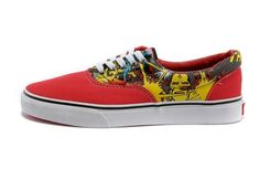 3293979bfb Vans Shoes Red White Era Iron Man Womens Mens Canvas Sneakers