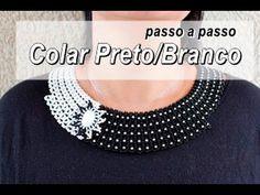 NM Bijoux - Colar Preto/Branco - passo a passo - YouTube