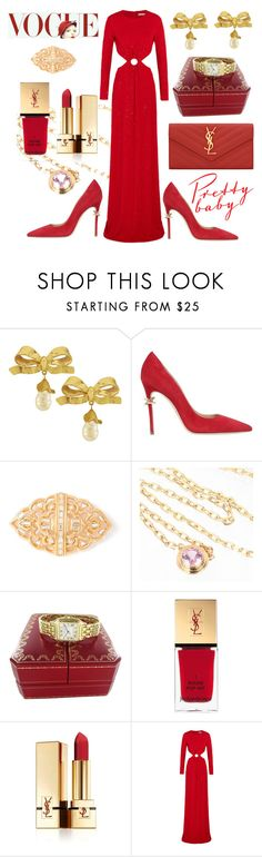 """Happy Holidays"" by ellenfischerbeauty ❤ liked on Polyvore featuring Vintage, Dsquared2, Yves Saint Laurent, Cartier and Michael Kors"