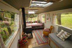 Um ônibus velho que se transformou em uma charmosa casa - limaonagua