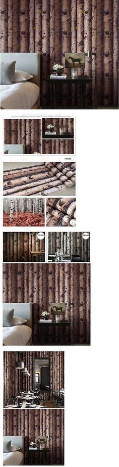 Other Wallpaper 52348: Nature Theme - 10M 3D Embossed Project Wallpaper Roll Forest Tree Bark Wood Bush -> BUY IT NOW ONLY: $41.65 on eBay!
