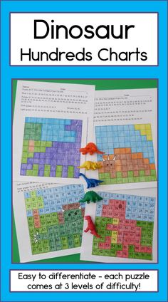 Harness your students' love for dinosaurs to get them working on 2 digit numbers, writing and fine motor development with Dinosaur Hundreds Charts! There are 4 dinosaur mystery pictures to solve, and each one comes in 3 different levels of difficulty, so you can easily differentiate for all your students. TpT $
