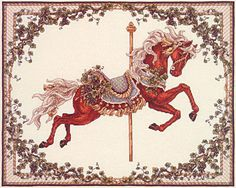 Web page devoted to the work of artist Teresa Wentzler, who creates fantasy-inspired counted cross stitch designs, and intricate pen and ink drawings. Cross Stitch Fruit, Cross Stitch Love, Cross Stitch Designs, Cross Stitch Patterns, Carosel Horse, Angel Drawing, Victorian Dollhouse, Modern Dollhouse, Horse Pattern