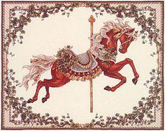 "Teresa Wentzler ""Winter Carousel Horse"""