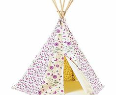 Garden Games Limited Girls Flower/ Butterfly Wigwam Play Tent with Wooden Frame and Cotton Canvas (Pink) Your children will love playing in this tipi tent with its colourful, screen-printed design. The perfect hideout for the garden or bedroom, it makes a great den (Barcode EAN = 5035874304102) http://www.comparestoreprices.co.uk/wooden-play-houses/garden-games-limited-girls-flower-butterfly-wigwam-play-tent-with-wooden-frame-and-cotton-canvas-pink-.asp