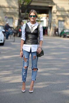 Atemporal, Clásico Y Versátil… Oda A La Blusa Blanca!!! | Cut & Paste – Blog de Moda Look Street Style, Autumn Street Style, Street Chic, Street Styles, Street Wear, Mode Outfits, Fall Outfits, Fashion Outfits, Womens Fashion