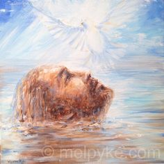 The Baptism of Jesus - original painting on canvas