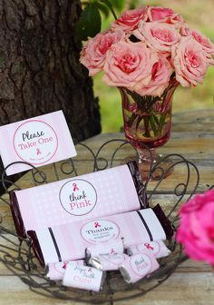 Free printables (44-piece set!) for your breast cancer awareness party