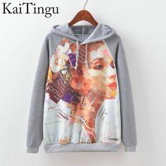 39b9be59531c2b KaiTingu Brand Fashion Autumn Winter Long Sleeve Women Sweatshirt Harajuku  Owl Print Hoodies Hooded Tracksuit Jumper Pullover. Coole  KapuzenpullisLustige ...