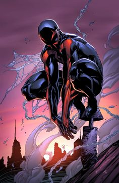 Spider-Man 2099 by Brett Booth, inks by Ben Jones, and colors by Juan Fernandez *