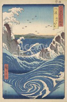 Rough Sea at Naruto in Awa Province