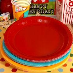 Circus 1st Birthday Coordinating Lunch Plate Set (24) $4.50
