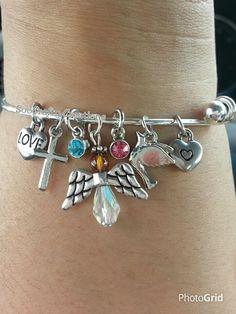 Angel Mom Charm Bracelet/Bangle