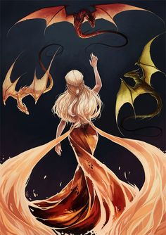 With fire and blood.