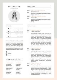 Modern Resume Template & Cover Letter Icon Set door OddBitsStudio