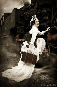Steampunk Neo-Victorian Fashion model #coupon code nicesup123 gets 25% off at  www.Provestra.com www.Skinception.com and www.leadingedgehealth.com