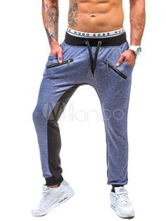 Ate para arriba pantalones pantalones de algodón recto gris para hombres c08cd185d48b