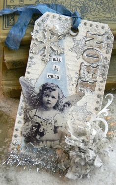 Noel tag by Shelly Hickox