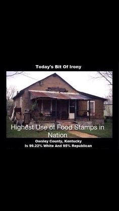 """6/17/15  6:19p  How does the GOP brainwash these poor people into voting against their own best interests? They must have a TV in there turned to """"Faux News"""". countercurrentnews.com  via E  Human rights ambassadors change the world, become on at http://www.fuzeus.com"""