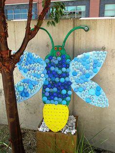 Reuse, Recover, Repurpose, Bottle Cap Bugs and Festive Flowers, Racine Art Museum, Racine, Wisconsin   Flickr - Photo Sharing!