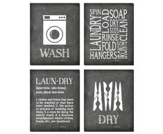 Excited to share the latest addition to my shop: Laundry Room Wall Art - Four PRINTs - Laundry Symbols Wash Dry - Laundry Definition - Home Decor - Laundry Wall Decor - gift for mom