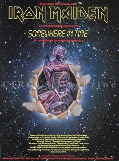 =30th Anniversary= September 29, 1986: #IronMaiden released their Somewhere In Time album.  advert in High Definition / two promo videos with their single's artwork Wasted Years art http://1.bp.blogspot.com/-MVBKjJl0UQA/To5NEOSheBI/AAAAAAAAAgE/_bFfiZJ49rE/s1600/wastedyears.jpg *************************** Wasted Years pv in 720pHD https://youtu.be/Ij99dud8-0A *************************** Stranger In A Strange Land art http://i.imgur.com/Xj471c9.jpg *************************** Stranger In A ...