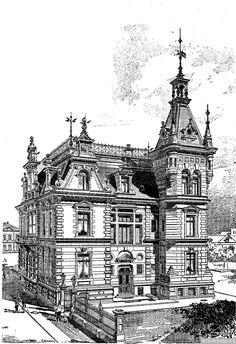 представлены особняки, замки, общественные дома и другие здания, построенные в стиле модерн, барокко, ампир, классицизм. Часть2   ARTeveryday.org