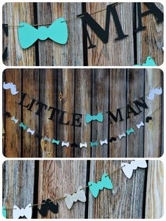 Little Man Banner Baby shower Banner Baby Boy Banner Mustache Garland Bow Tie Banner Bow Tie 038 Mustache Banner Banner Photo Prop by LucasAndMeC Lit. Baby Shower Photo Booth, Fotos Baby Shower, Baby Shower Photos, Boy Baby Shower Themes, Baby Boy Shower, Shower Pictures, Baby Showers, Baby Shower Mustache, Baby Shower Banners