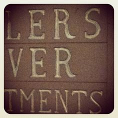 Day 106: Carved signage // © Erin M. Harris