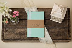 Mint  Lace Diary Journal