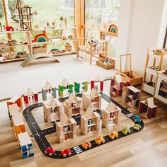 The Road, Montessori Playroom, Small World Play, Wooden Toys, Instagram Repost, Children, Building, Cities, Home Decor