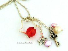 Collar colgante estrella de Creacions Maria Rosa por DaWanda.com