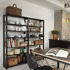 Reolen fåes også i sort. Bookshelves, Bookcase, Concrete Wood, Eclectic Design, Lund, Interior Design Kitchen, Storage Shelves, Home Kitchens, Home Furniture
