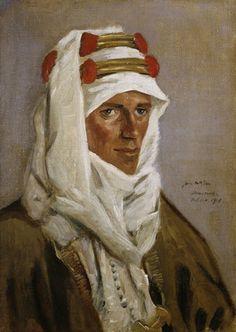 Lieutenant-Colonel T E Lawrence, CB, DSO, 1918  McBey, James  © IWM (Art.IWM ART 2473)