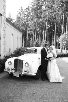 Vintage Bentley for Bride & Groom - Wedding Planning by Camille Victoria Weddings LLC / Photo by Allure Photo