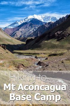 Mt Aconcagua is the tallest mountain in the world outside of Asia. In one day, you can hike out and back to Confluencia, the first base camp on the way to the summit. It's a beautiful hike and a great adventure to add to your list of things to do in Mendoza, Argentina. Aconcagua | Argentina | Hiking | Adventure Travel