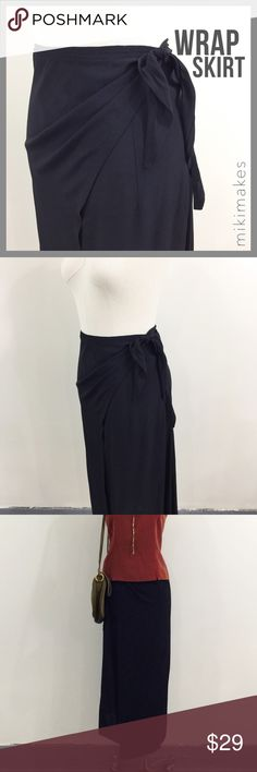 🆕 Black wrap skirt / sarong convertible to dress • very simple and versatile black skirt • can wrap around the waist or hips • you can even tie it around the neck and wear as a dress • perfect as a beach cover up sarong  • there is no tag, few very very tiny holes where I removed it, but cannot be seen once wrapped (see photos) • not sure what the fabric content is, but feels like rayon  • sorry no trades • please feel free to ask any questions  ❤️ @mikimakes mikimakes Skirts Maxi