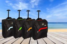 Cabin-approved lightweight wheeled suitcase, choice of 8 colour options!