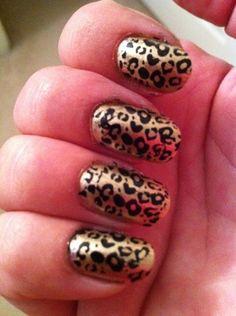 Feelin fierce. Cheetah nails