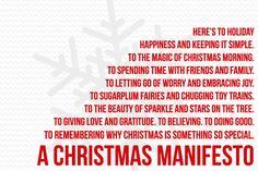 2011 Christmas Manifesto