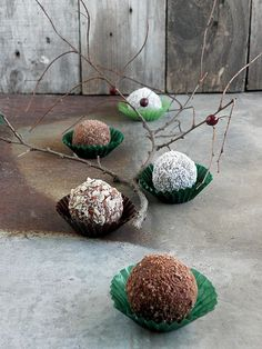 no-bake hazelnut chocolate balls