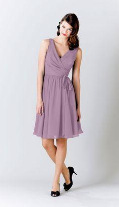 Eggplant|Chloe Chiffon Bridesmaid Dress  this cut would look great on rachel!