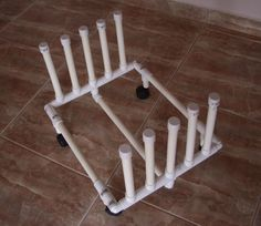 PVC dolly for kiln shelves