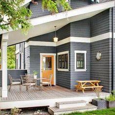 Top 50 Best Exterior House Paint Ideas - Color Designs Exterior Gray Paint, Exterior Paint Colors For House, Paint Colors For Home, Exterior House Colour Schemes, Exterior Doors, Exterior House Paints, Farmhouse Exterior Colors, Modern Exterior, Exterior Design