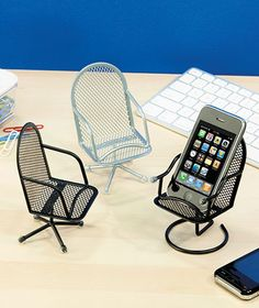 Haha! Set of 3 Chair Cell Phone Holders | LTD Commodities