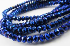 38 pcs Faceted Glass Rondelle Rondel C39 AB Blue Purple Rainbow 10mm loose beads spacer glass rondels