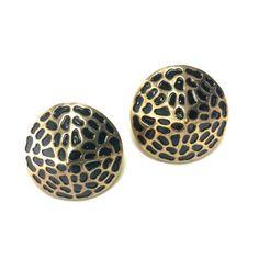 Black and Gold Leopard Cone Earrings from B. POY & JO... www.bpoyandjo.com #jewelry #style #fashion #earrings