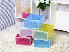 Wholesale Storage Boxes & Bins - Buy Transparent Shoe Box Multicolour Plastic Storage Box for Shoes, $5.11 | DHgate