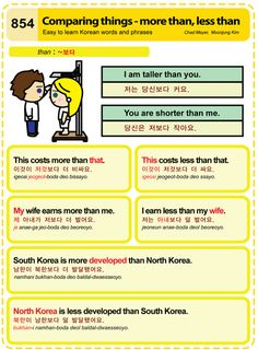 Easy to Learn Korean 854 - Comparing Things: Less than/More than Chad Meyer and Moon-Jung Kim EasytoLearnKorean.com